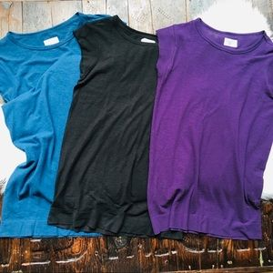 ATHLETA With Ease Tees Lot of 3 Organic Cotton XS